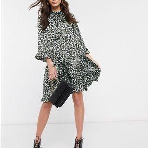 Y.A.S. Leopard Shirt Dress NWT